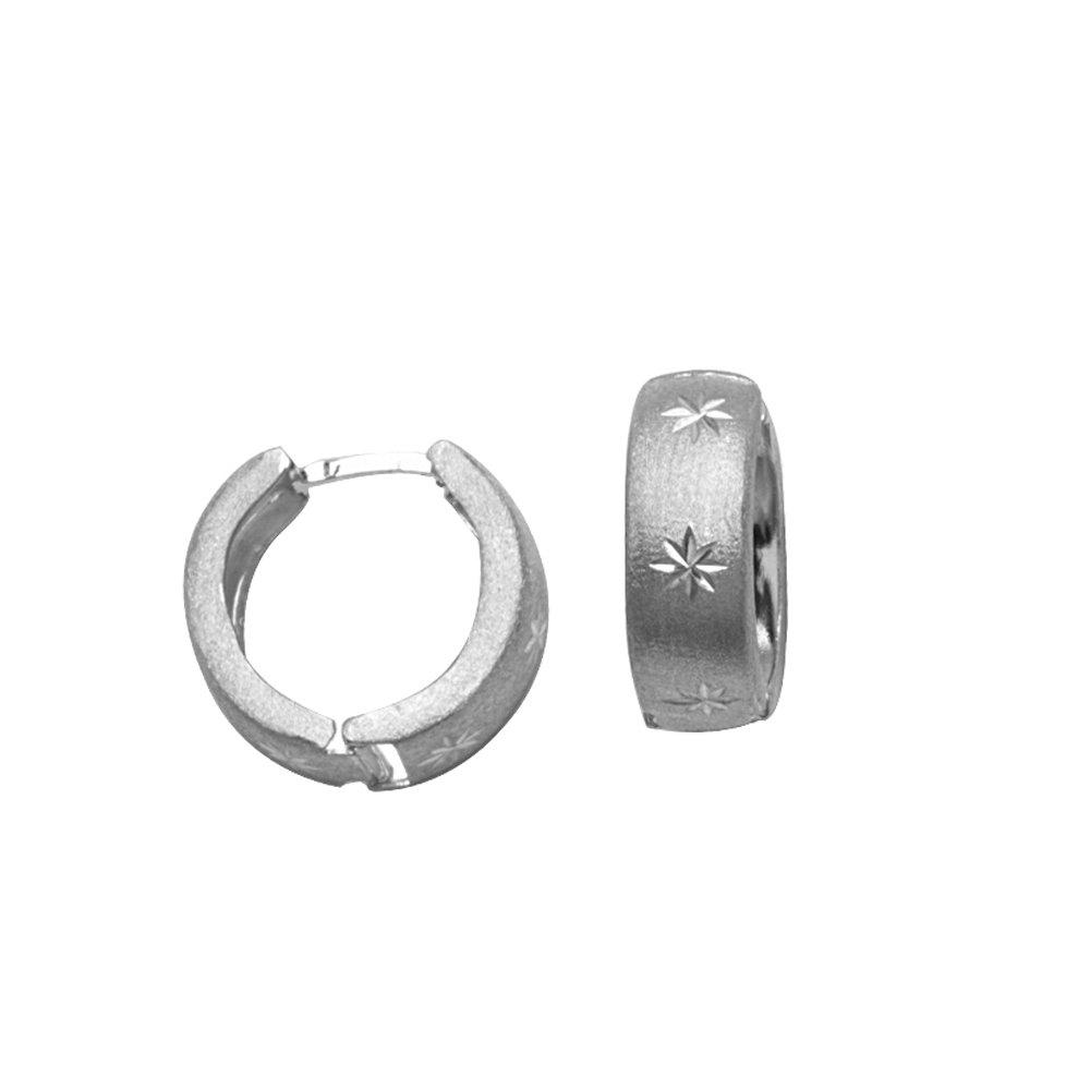 Hoop Earrings HUGGIES//SATIN//DC