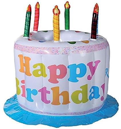 hinchable enfriador de bebida Happy Birthday, cumpleaños, tarta de ...