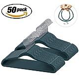 IEOKE Velvet Hangers Nonslip Clothes Hangers Heavy Duty 360 Swivel Hanger Hook Perfect for Space Saving (50)