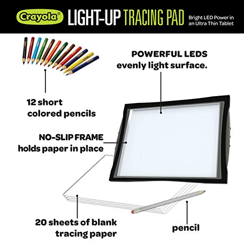 Crayola Light Up Tracing Pad with Eye-Soft Technology, Amazon Exclusive, Gift, Ages 6, 7, 8, 9, 10