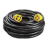 ALEKO GEC4100 Generator Extension Cord ETL Listed 30A 125/250V 10/4 4PIN, 100 Feet