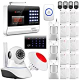 KERUI N6120G Wireless GSM Home/Business Security Burglar Alarm System + Wireless KeyPad,720P Wifi IP Camera