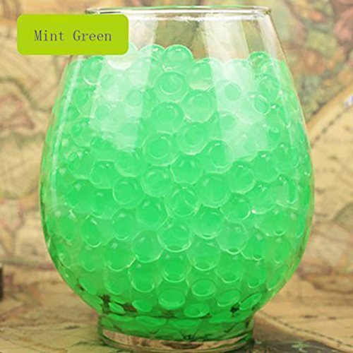 [Lookatool 7000 PCS Water Bullet Balls Water Beads Mud Grow Magic Jelly Balls - Wedding Decoration Vase Filler - Furniture Decorative Vase Filler - For Stress Balls, Summer Rainbow Mix (Mint] (Scary Dentist Costume)