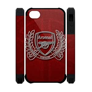 Arsenal Football Club Iphone 4S Case Hard Arsenal FC Soccer Football Iphone 4 Cover HD Image Snap ON