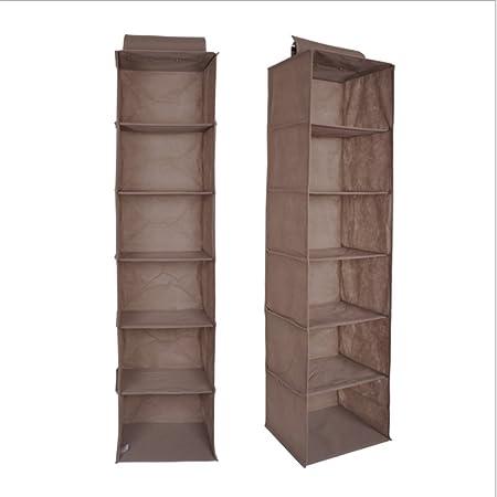 Accessori Per Armadi Guardaroba.6 Scompartiment Armadio Organizzatore Organizzatore Guardaroba