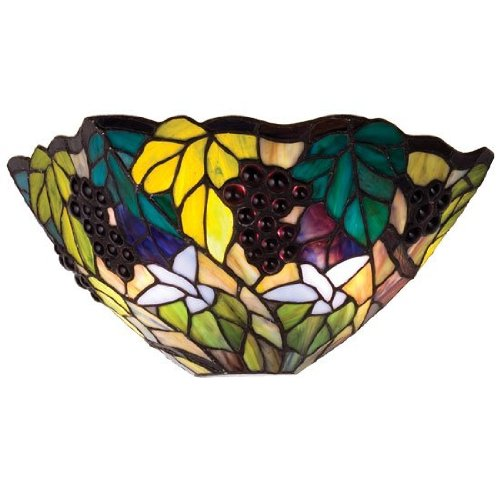 Meyda Tiffany Spiral Grape Tiffany Wall Sconce 11055