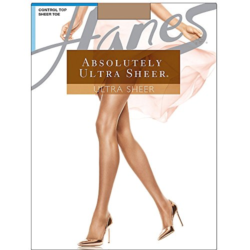 Hanes Women`s Set of 3 Absolutely Ultra Sheer Control Top Sheer Toe Pantyhose B, Barely There