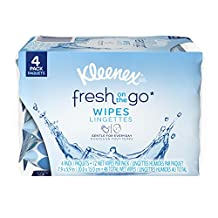 Kleenex Fresh On-the-Go Moist Wipes, 4 Resealable Packs