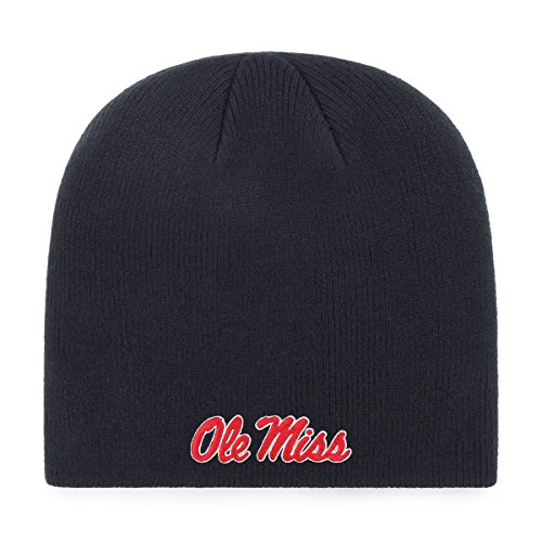 NCAA Mississippi Old Miss Rebels OTS Beanie Knit Cap, Navy, One ()