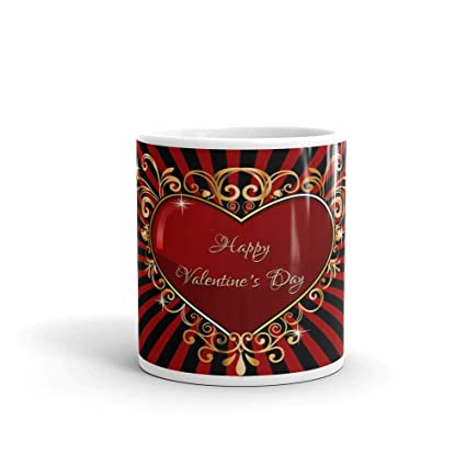 Buy The Nk Store Valentine Gift For Boyfriend Happy Valentines Day Theme Printed Ceramic Coffee Mug 330 Ml Valentines Day Gift For Husband Wife Girlfriend Boyfriend Mug Online At Low Prices In