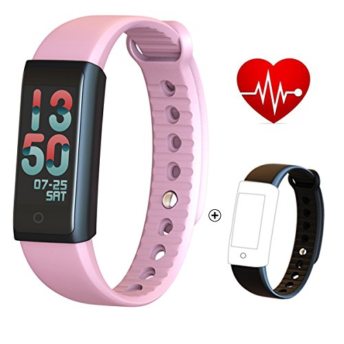 Fitness Tracker/Smart Bracelet with Color Screen,Smart Wristband Waterproof Pedometer Activity Tracker with Sleep Monitor, Heart Rate Monitor, Blood Pressure/Oxygen Monitor
