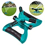 Vankcp Lawn Sprinkler, Automatic 360 Degree Rotating Sprinklers, Adjustable watering Irrigation System, Cover more area for garden, yard