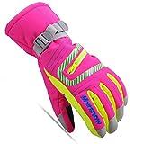 Tsptool Winter Warm Gloves Windproof & Waterproof Snow Ski Gloves Rose Red M