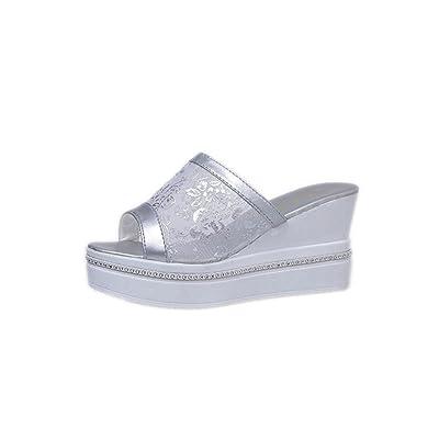 Alonea Fashion Summer Women Slippers High Thick Heel Sandals Platform Ladies Wedges Flip Flops
