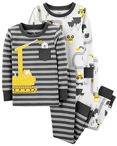 Price comparison product image Carter's Toddler Boys 4 Pc Pajama PJs Sleep Play Sleep Snug fit Cotton Construction (3T)