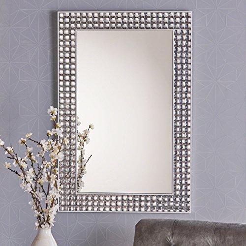 Irene Rectangular Bubble Detailed Wall Mirror