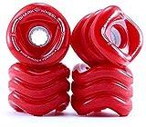 Shark Wheel Sidewinder 70mm 78A Traction Long Boarding Skateboard Wheels, Red