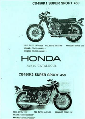 UHCB450K1K2 Honda CB450K1 K2 Parts Manual: Amazon com: Books