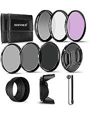 Neewer 55mm Professional UV CPL FLD filtro e filtro neutro ND (ND2, ND4, ND8) Kit accessori per Sony A37A55A57A65A77A100