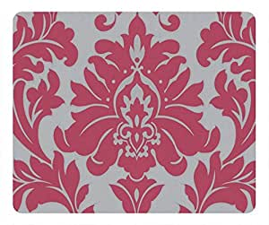 Hot Pink Color Damask Design Fashion Masterpiece Limited Design Oblong Mouse Pad by Cases & Mousepads