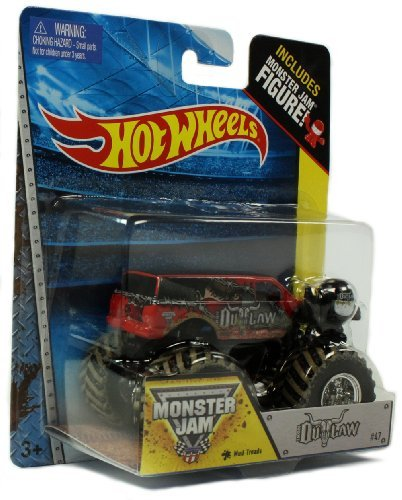 Hot Wheels Monster Jam Iron Outlaw Includes Monster Jam Figure Off-road New In Package Rare
