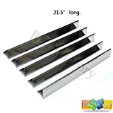 bbq factory JPX35 JPX34 Replacement Weber Stainless Steel Flavorizer Bars / Heat Plate, Set of 5, 21.5