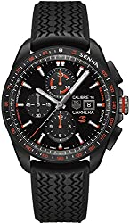 Tag Heuer Carrera Calibre 16 Automatic SENNA SPECIAL EDITION Rubber Strap Men's Watch CBB2080.FT6042