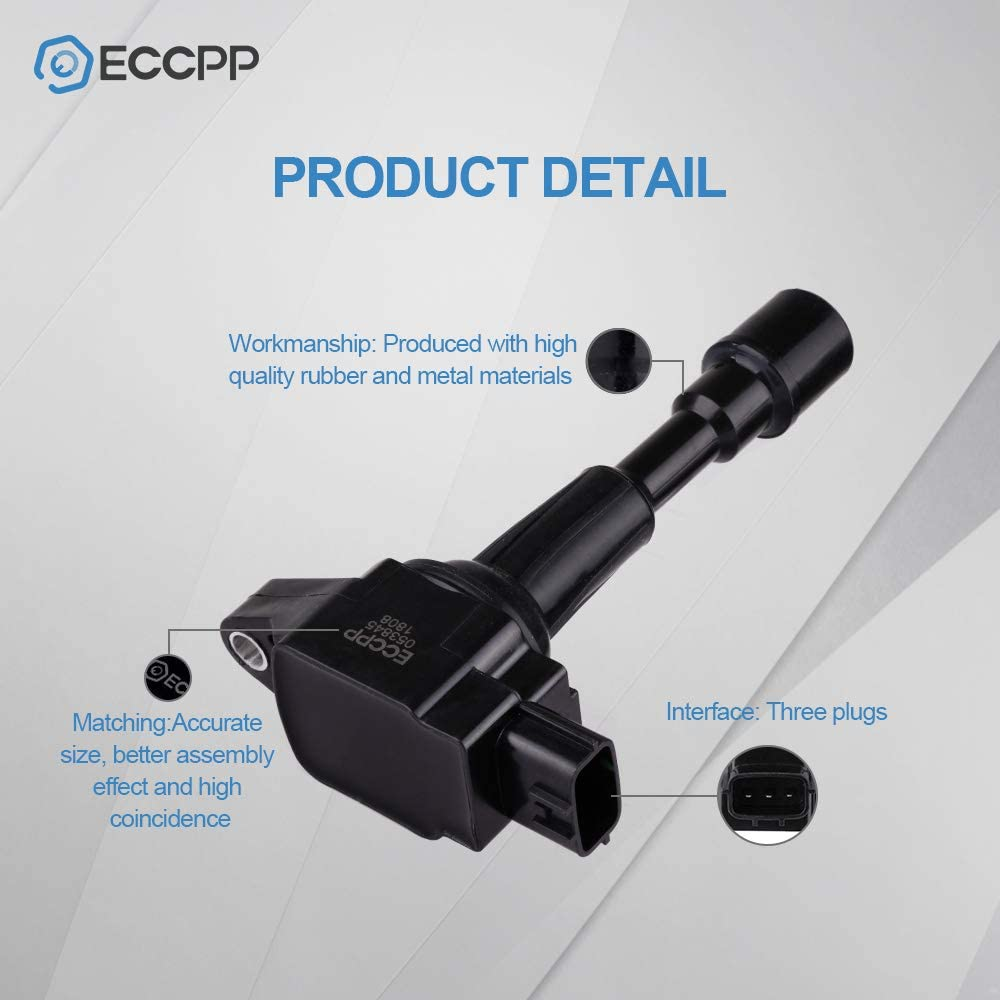 ECCPP Ignition Coils Pack of 4 Compatible with Mazda 2 2011-2014 Replacement for C1790 UF-655