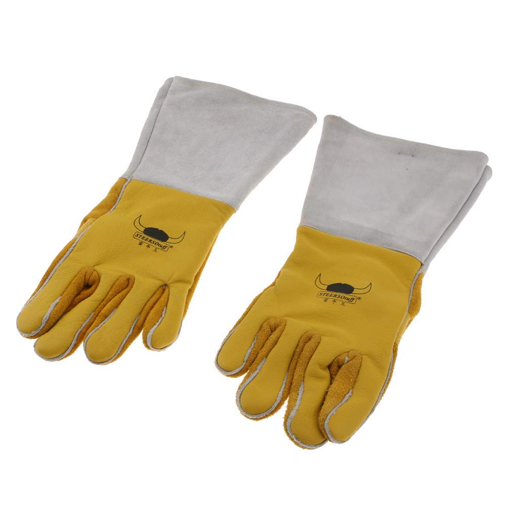 nouler Juler 2X Welding Gloves, Heat Resistant, Artificial Leather Protective Gloves