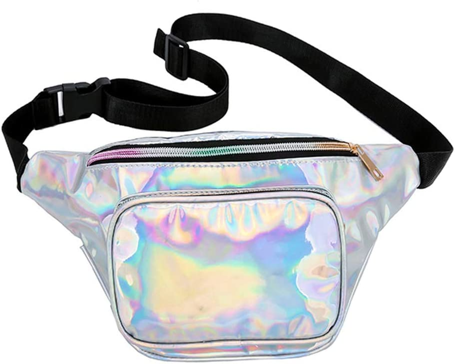Yellow Fashion Women Shiny Waist Bag Waterproof Running Sports Fanny Pack