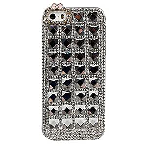 Fashionable Crystal Grid Design Back Case for iPhone 5/5S Protective Case ,Color: Pink