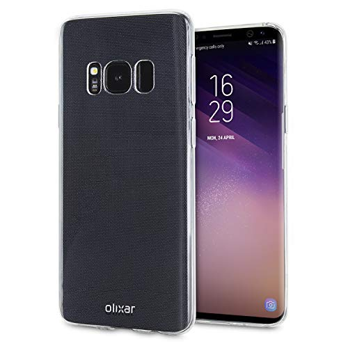 Olixar Samsung Galaxy S8 Plus Clear Case - Slim Soft Gel Cover - Ultra Thin 100% Clear - Flexible Transparent Case - Wireless Charging Compatible
