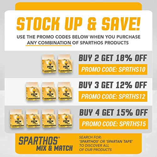 Spartan Tape Kinesiology Tape - Incredible Support for Pro Sports and Kt  Recovery - Free Kinesio Taping Guide! - K Rocktape Waterproof Rock Tapes