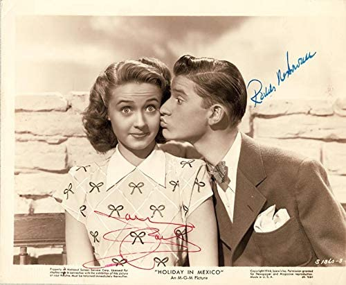Holiday In Mexico Movie Cast Photograph Signed Co Signed By Roddy Mcdowall Jane Powell At Amazon S Entertainment Collectibles Store