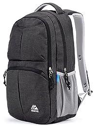 Mozone Large Lightweight Water Resistant College School Laptop Backpack Travel Bag Black