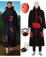 Naruto Itachi Tobi Hood cosplay costume and shoes set , size S