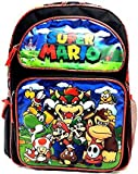 "New 2017 Super Mario 3D Brother Team 16"" Large Backpack Kid Boys School"