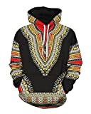 Jofemuho Mens Fashion African Print Dashiki Long Sleeve Hoodies Sweatshirts