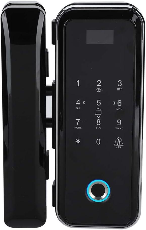 Cerradura de la Puerta de Vidrio Electrónica Inteligente Sistema de Control de Acceso de la Puerta de la Huella Dactilar Contraseña Deslizar Desbloqueo Remoto para el Hogar