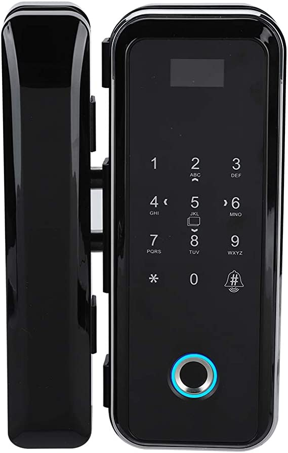 Smart Fingerprint Lock For Frameless Glass Door Security USB Rechargeable F-15