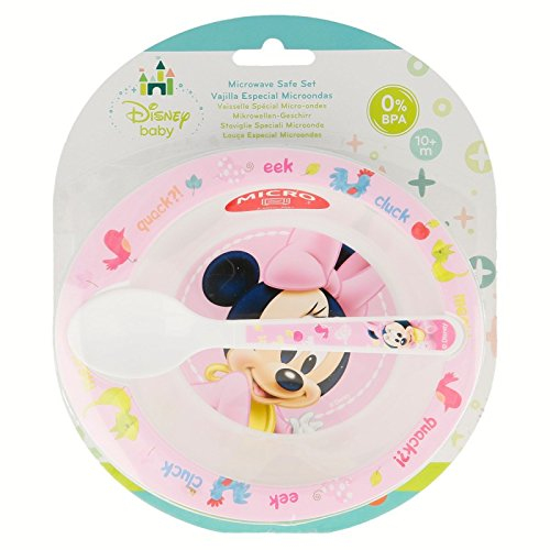 SET MICRO BABY 2 PIEZAS(CUENCO Y CUCHARA) Minnie Mouse BABY ...