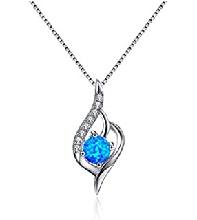 ASHINE 925 Sterling Silver Jewelry Forever Lover Heart Pendant Necklace