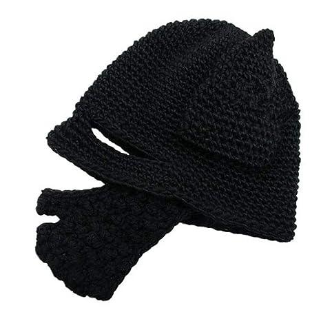 LUCKME Sombrero de Punto + máscara 61e6f363acf