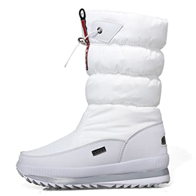 Glstkjgs Snow Boots Snow Duck Boots Tall Tube Plus Velvet Winter Boots Winter Korean Cotton Boots Thickened Snow Shoes