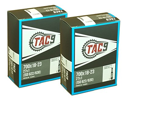 2 Pack - Tubes, 700c x 18-23 PV 48mm Presta Valve, Bicycle Inner Tube (2 Tube Bundle)