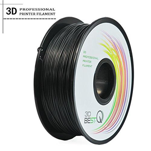 3D BEST-Q Flexible TPU 1.75mm 3D Printer Filament, Dimensional Accuracy +/- 0.03 mm, 1KG Spool, 8 Color To Choose (black)