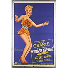 Wabash Avenue (1950) Original Style B One-sheet Movie Poster 27x41 BETTY GRABLE Film Directed by HENRY KOSTER
