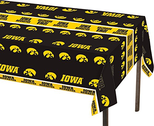 Creative Converting 729900 Collegiate Plastic Table Cover, 54 by 108