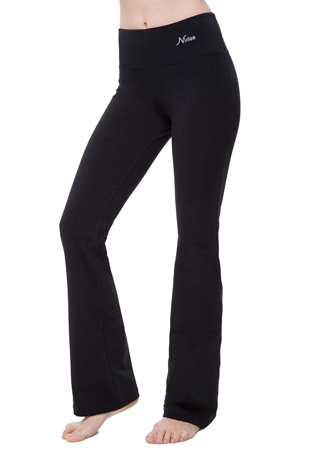 d63dd940f25628 Amazon.com: NIRLON Bootcut Yoga Pants High Waist Black Workout Leggings for Women  Plus Size: Clothing