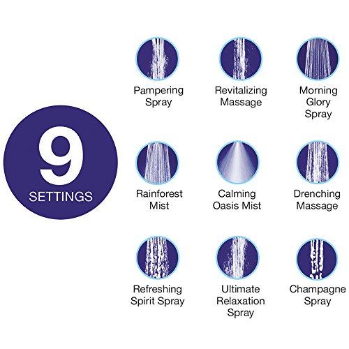 Distinctives Deluxe Massager Handheld Shower Head - 9 Spray Settings, Chrome